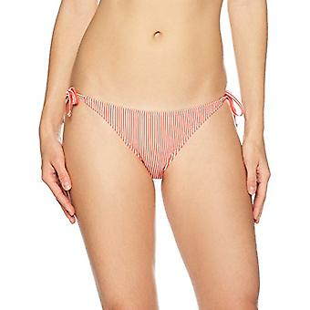 Brand - Mae Women's Swimwear Sail Side Tie Bikini Bottom,Red Stripe,Sm...