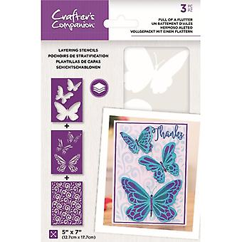 Crafter's Companion Full of a Flutter Layering Kaleidoscope Stencils