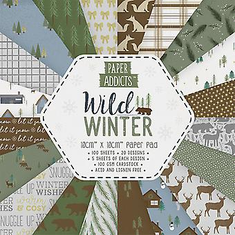 Paper Addicts Wild Winter 10x10cm Paper Pad