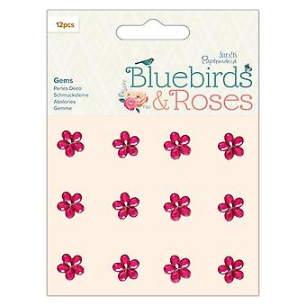 Papermania Bluebirds & Roses Adhesive Gems (12pcs) (PMA 356149)