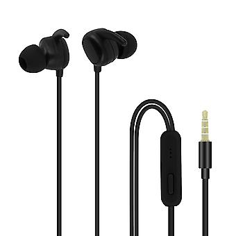 Wired Headphones and Multi-function with 3.5mm Jack Connector - Black