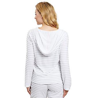 Rösch 1202045-16564 Women's Be Happy Ringlet Grey Striped Loungewear Jacket