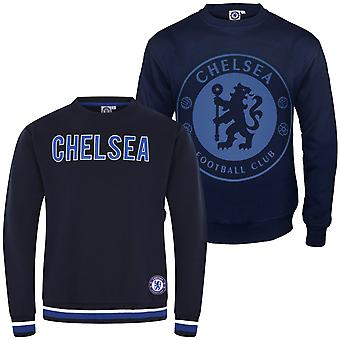 Chelsea FC Officiel De football Cadeau Hommes Crest Sweatshirt Top
