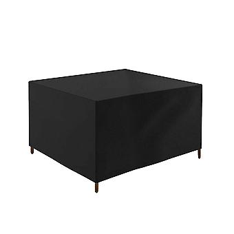 YANGFAN Black Rectangular 210D Oxford Cloth Outdoor Table Chair Cover