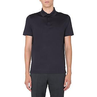 Z Zegna Vv348zz670b09 Men'camisa polo de algodão azul