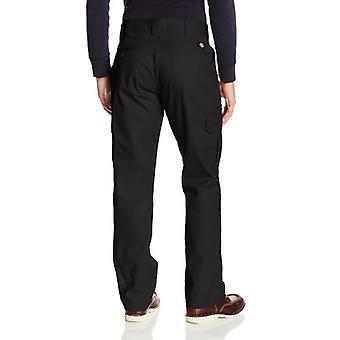 Dickies Men's Regular Straight Stretch Twill Cargo Pant, Black, 30x30