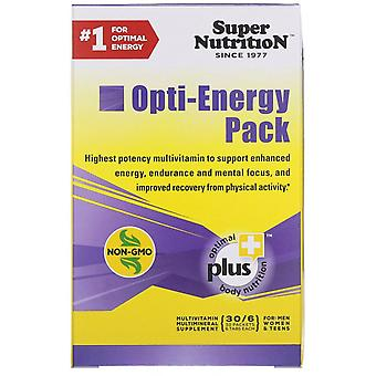 Super Nutrition, Opti-Energy Pack, MultiVitamin/Multimineral Supplement, 30 Pack