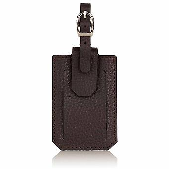 Cocoa Brown Richmond Luxury Leather Luggage Tag