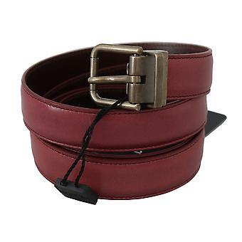 Dolce & Gabbana Pink Purple Leather Gray Metal Buckle Belt BEL60351-110