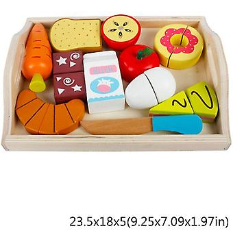Wooden Classic Game Simulation Kitchen Series - Toys Cutting Fruit Vegetable Set Toys