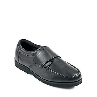 Chums Mens Leather Extra Wide Fit Touch Bevestig schoen