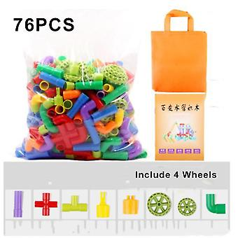 Tube Block Toys For Children Assembled Pipeline Water Pipe Plastic Building Blocks