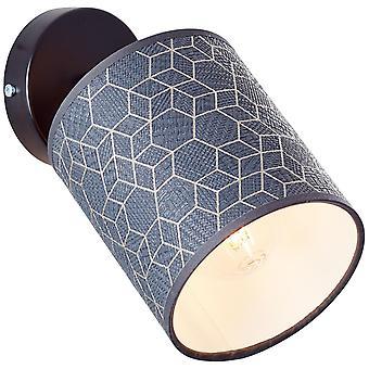 LYSANDE Galance Väggfläck Svart Inomhusbelysning,Spotlight,-Vägg   1x A60, E27, 40W, lämplig för normala lampor (ingår ej)
