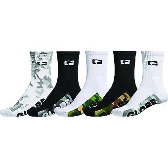 Globe malcom crew sock 5 pk