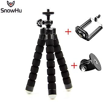 Flexible Mini Octopus Tripod With Screw Mount Adapter For Go Pro Hero 8