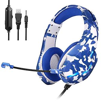 Yulass Stereo Gaming Headphones for Playstation 4 and 5 / Xbox / PC - Headset Headphones with Microphone Camo