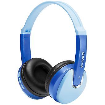 DJ Style Wireless Bluetooth On-Ear Headphones for Kids Blue (Model. GVBT590BE)