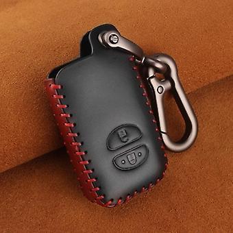 Toyota echte lederen auto sleutelkast carabiner hanger