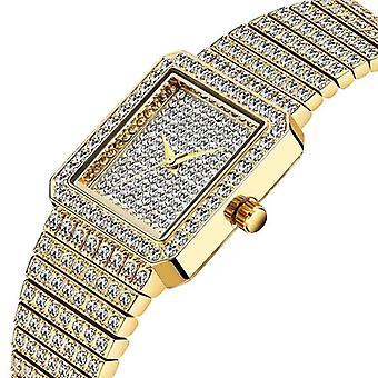 Diamant-Uhr für Frauen Luxus Marke Damen analog Quarz einzigartige movt