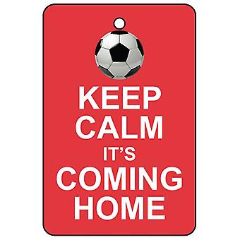 Keep Calm It's Coming Home Car Air Freshener