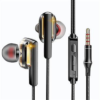 QKZ CK3 Dual Dynamic In-ear Earphone Wired Control Heavy Bass HiFi Headphone