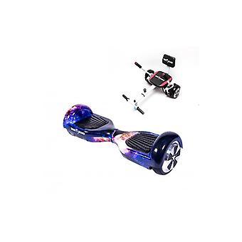 Pakket Hoverboard 6,5 inch, Smart Balance™ reguliere Galaxy Orange + Hoverseat met spons, motor 700 Wat, Bluetooth, Led