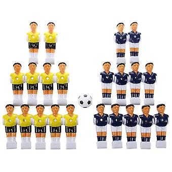22pcs Foosball Man Table Guys Man Soccer Player- Part With Ball (multi)