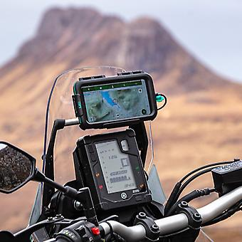 Adventure motorcycle accessory bar mounting kit tough waterproof case iphone xs max