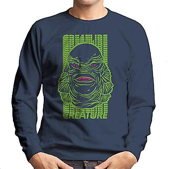 The Creature From The Black Lagoon Head Illustration Men's Sweatshirt