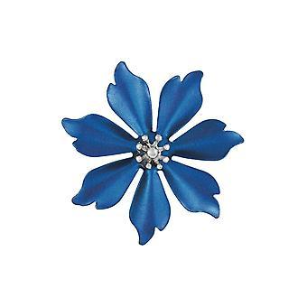 الجمع الأبدي Fleur Azure الأزرق الفضة لهجة زهرة بروش