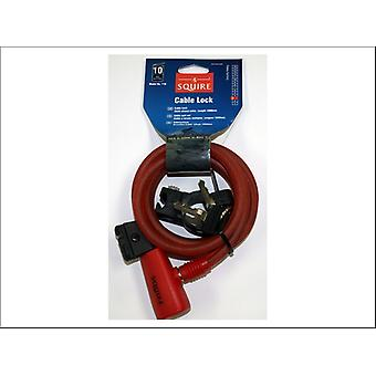 Squire Key Cable Lock Red 1800 x 10mm 116