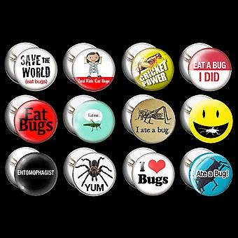 Recycled American Steel - 12 Entomophagy Buttons