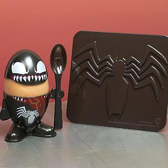Venom Egg Cup et Toast Cutter Sous licence Marvel Comics Spiderman Kitchenware