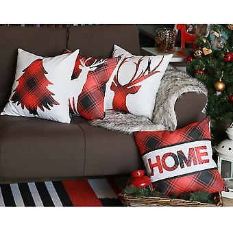 Christmas Theme Printed Throw Pillow Cover