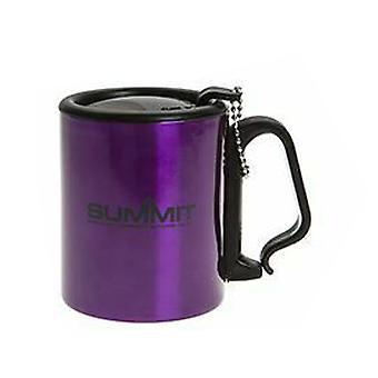 Summit isolerad mugg med karbinhake handtag resor med lock utomhus camping - 1 enhet lila mugg