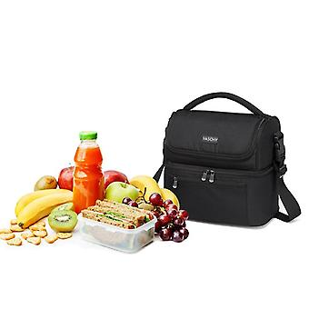 Insulated Lunch Box Leak-proof Cooler Bag In Dual Compartment Lunch Tote 14