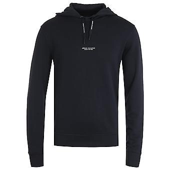 Armani Exchange Pullover Navy Hooded Sweatshirt