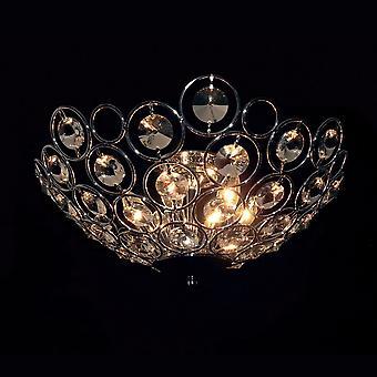 Italux Kalila - Classic Flush Plafondlamp Chroom 6 Licht met Kristalkleur, E14