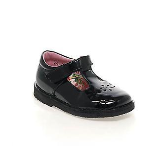 PETASIL Stitch Down Tbar Shoe Black Patent