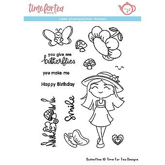 Time For Tea Butterflies Clear Stamps