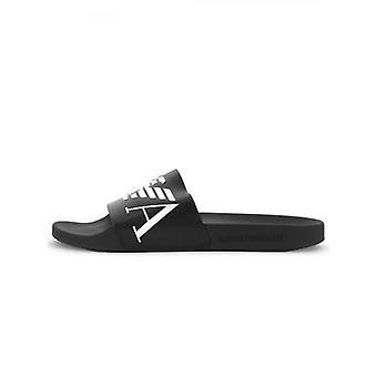 Emporio Armani Loungewear Black Logo Slide