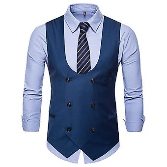 Men's Classic Party Wedding Paisley Plaid Waistcoat Vest Pocket Square Tie Suit