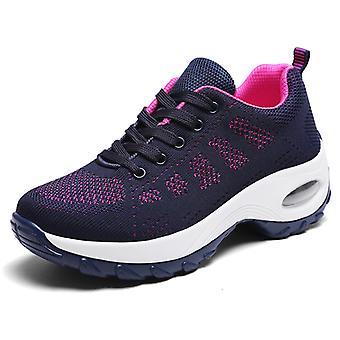 Ladies Air Cushion Casual Sports Shoes1918 Bleu