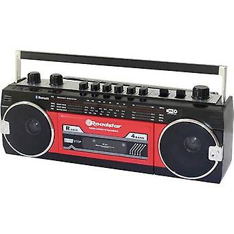 Roadstar RCR-3025EBT/RD Tragbarer Audiobandplayer Tangible Tastatur, Aufnahmemodus, Inkl. Mikrofon Rot, Schwarz
