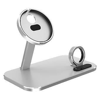 Aoduke 2-in-1 magsafe wireless charger dock aluminium alloy mobile phone holder stand for iphone 12 iwatch