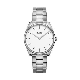 Cluse Ladies Feroce Silver Circle Quartz Fashion Watch CW0101212003