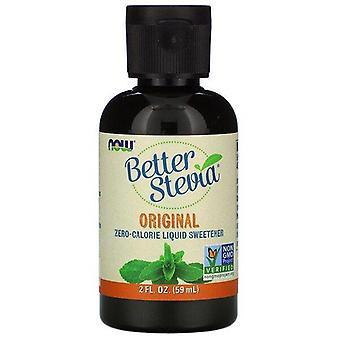 Now Foods, Better Stevia, Zero-Calorie Liquid Sweetener, Original, 2 fl oz (59 ml)