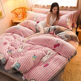 Winter Bedding Double-sided Thickened Velvet Duvet Cover