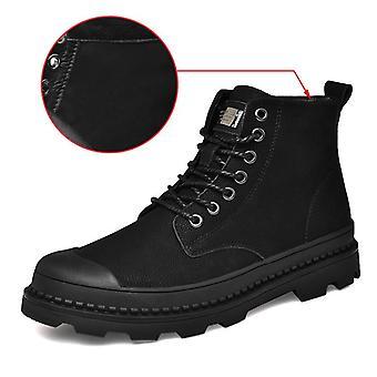 أسود دافئ الشتاء الرجال الأحذية