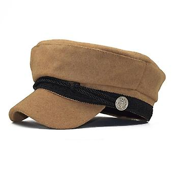 Unisex téli katonai kalap, francia stílusú gyapjú pék's kalap sapka